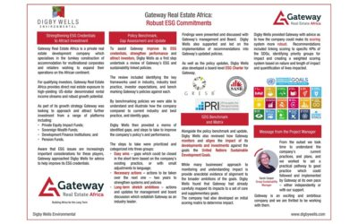Gateway Real Estate Africa: Robust ESG Commitments