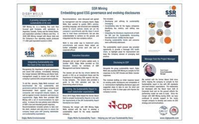 SSR Mining: Embedding good ESG governance and evolving disclosures